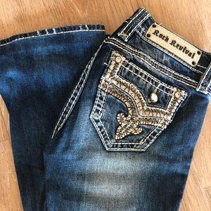Rock Revival Boot Cut Jeans Size 26